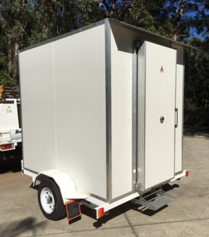 Trailer mounted cold room Sunshine Coast