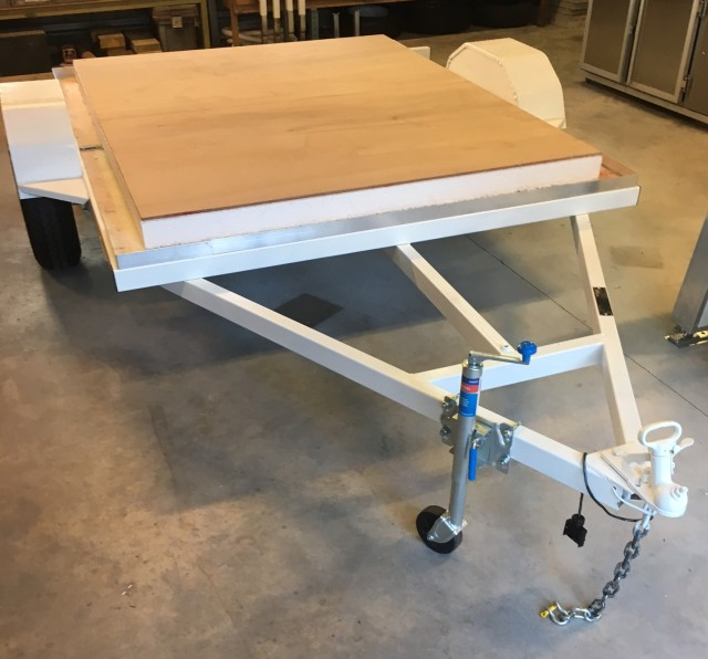 trailer with base panel