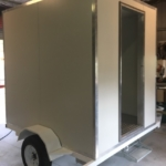 trailer with ali angle door frame and flooring
