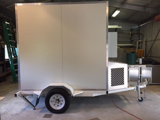 complete side view of trailer mounted cold room
